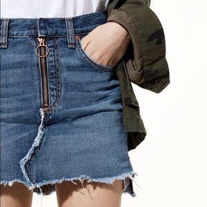 Rag & Bone/JEAN O-Ring Denim Mini Skirt